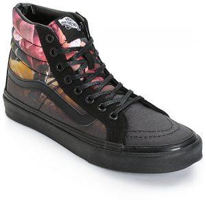 Vans SK8 Hi Slim Ombre Floral Black